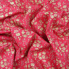 Liberty ~ Capel F Cherry Tana Lawn Fabric / quilting dressmaking floral red pink