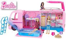 Girls Barbie Camper Playset Kids Toy Play House Pink Gift Birthday Present Mum A
