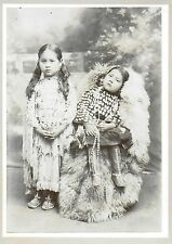Great Cabinet Photograph of Two Really Cute Young Native American Girls