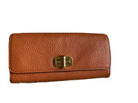 Michael Kors Sullivan Orange Carry All Leather Wallet