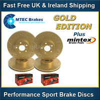 Ford Mondeo 07-12 mk4 Gold Edition Front Rear Brake Discs Drilled & Grooved Pads