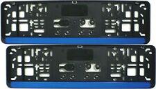 2 Stück Kennzeichenhalter 46cm Leiste BLAU Nummernschildhalter Satz kurz 460mm