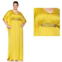 Queen Collection Floor-Length Caftan w/Beaded Detail 173721-J -NI- (L&XL)