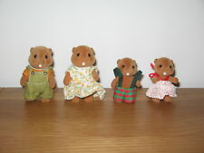 Sylvanian Families Vintage Waters Beaver family, Mum, Dad, son & daughter