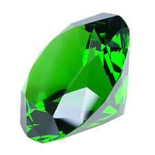 100mm Green Crystal Diamond Paperweight Gemstone Wedding Decoration Cake Toppers