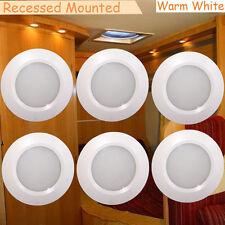 3w LED Recessed Ceiling Down Lights 12v DC Camper Boat Spotlights Warm White 6pc