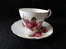 Vintage Regency Fine Bone China Teacup & Saucer-Rose Pattern
