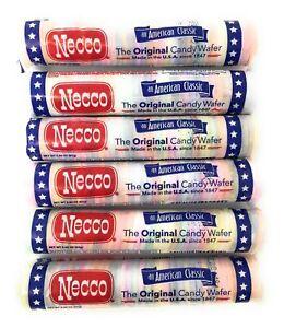 Necco Wafers Original Assorted Candy Rolls (Set of 6) Original Version