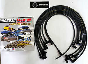 MOROSO SBC CHEVY 305 350 Spark Plug Wires HEI 90 Degree Boots HEI (Under Header)