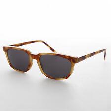 Horn Rim Beatnik Mod 50s Vintage Sunglass Blonde Tort Frame Gray Lens - Ronnie