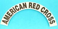 AMERICAN RED CROSS Highly Reflective Fire Helmet Crescent Decals - A PAIR!