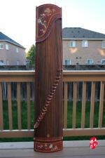 Dunhuang Guzheng, Chinese Zither Harp, 敦煌特氏古夷蘇木古箏 -- 牡丹