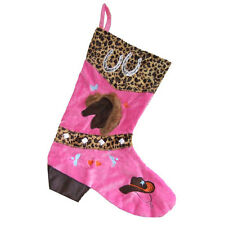 Cowgirl Leopard Boot Christmas Stocking