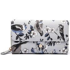 Oilcloth Women Handbag Purse Birds Flower Tote Day Carry Shopper Bag Wallet