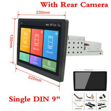 """Single 1DIN Touch Screen 9"""" Android 8.1 Car Stereo Radio GPS WiFi w/ Rear Camera"""