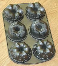 NORDIC WARE Garland BUNDTLETTE mini cake pan 6 cup 1.8 L heavy ALUMINUM USA