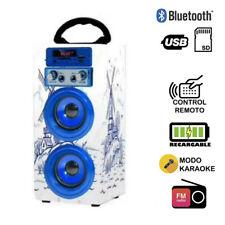 Altavoz Karaoke con Micrófono 35W Reproductor Radio inalámbrico Portátil FM MP3