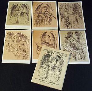 AK Engelkonzert 6 Weihnachts-Briefkarten von Suse Schäfer-Grohe Belserdruck Stgt