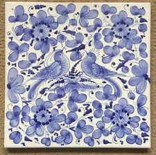 Deruta pottery-8x8inch Tile With Arabesco Pattern.Made/painted by hand-Italy