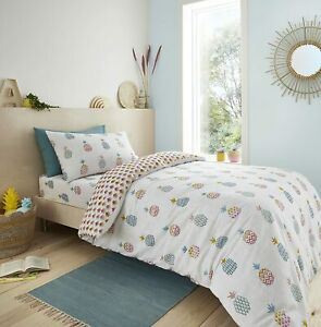 Ananas Pineapple Bright Bedding Range in 100% Cotton by Pineapple Elephant Kids