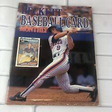 Beckett Baseball Card Magazine #49 April 1989 Greg Jeffries Gary Sheffield