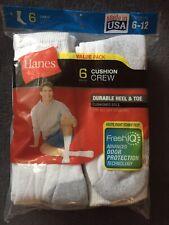 Hanes Cushion Crew Socks 6 Pack