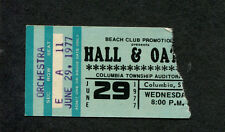 1977 Hall & Oates concert ticket stub Columbia SC Bigger Than The Both Of Us