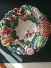 Fitz And Floyd Christmas Candy Dish