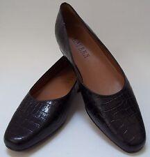59f7522864e Lauren Ralph Lauren Shoes Flats Brown Croc Leather Womens New Size 5 1 2 B