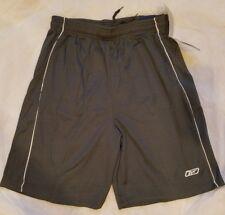 Xl Reebok Men Boys Polyester Gym Shorts Mesh Athletic Training Basketball Grey
