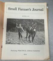 1979 VINTAGE  Small Farmer's Journal  Practical Horse Farming