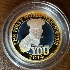 GREAT BRITAIN 100TH ANN 1ST WORLD WAR 925 SILVER 2 POUNDS 2014