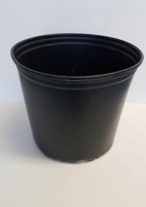 TRUE 3 GALLON NURSERY black PLASTIC POTS {set of 5} flower