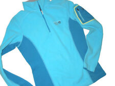 Mountain Hardwear women's 1/4 zip blue micro Fleece size SMALL