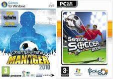 Championship manager 2010 & Sensible Soccer 2006 New & Sealed