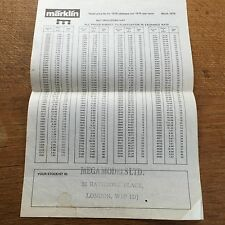 March 1979 Marklin Price List Model Train Railway Rail German Toy HO Gauge 4 pg