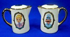 Disneyland Porcelain Teapot Salt & Pepper Shakers Walt Disney Productions