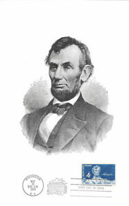 #1116 First Day Souvenir Card 4c Abraham Lincoln Stamp w/FDC