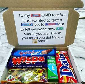 Teacher Thank You Chocolate Gift Box Teaching Assistant Leaving School Hamper
