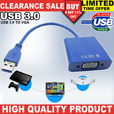 USB 3.0 to VGA Cable Video Converter Multi Graphic Display External Adapter Card