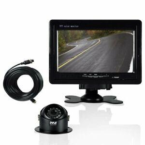 Pyle Truck Car Backup Camera Vehicle Mount W/ Weatherproof Dash Cam, Cam...