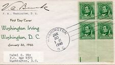 US 2nd Day #859 Irving, Nix, Signed By Postmaster (6850)