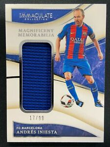ANDRES INIESTA 2020 PANINI IMMACULATE MAGNIFICENT JERSEY SP 17/99 FC BARCELONA