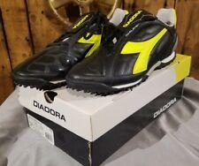 Diadora Men s DD Eleven R TF Turf Soccer Shoes Size 12 Black Fluorescent  Yellow eb9ca862091