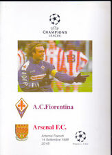 1999/2000 FIORENTINA V Arsenal 14-09-1999 CHAMPIONS LEAGUE programma Pirata