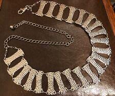 Women's Tasha Metal Chain Belt - Pebbled Chrome (Adjustable from 29