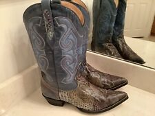 Mens Corral Python Cowboy Boots Size 9.5EE NICE