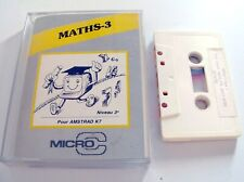 Rare : MATHS-3 logiciel software AMSTRAD CPC 464 / 664 / 6128 -French / Francais