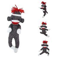 "Plushland Adorable Sock Monkey 8"" Tall Cute Plush Knitted Stuffed Animal Gifts"