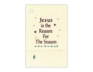 50 JESUS is the REASON Hang Tags,CHRISTMAS Price Tags,Craft Show Tags,Church Tag